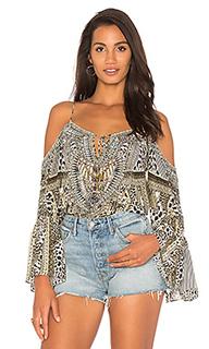 Блуза с приспущенными плечами - Camilla