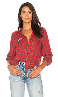 Рубашка на пуговицах с потрепанным подолом greta - Etienne Marcel