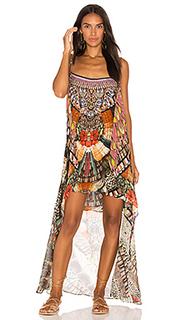 Мини платье с оверлеем - Camilla