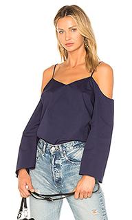 Блуза с вырезами на плечах и ярусными рукавами - 1. STATE