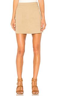 Трапециевидная юбка с накладным карманом - 1. STATE