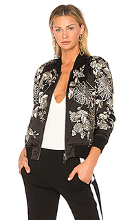 Куртка-бомбер с бархатной вышивкой - Pam & Gela