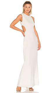 Вечернее платье с асимметричными плечами и вырезом сбоку - Halston Heritage