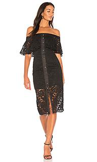 Кружевное миди-платье star crossed - keepsake