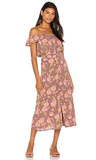 Миди-платье с цветочным рисунком tori - FLYNN SKYE