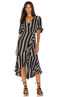 Herringbone ruffle wrap dress - Band of Gypsies