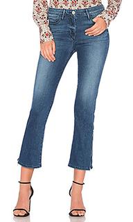 Укороченные джинсы средней посадки с молниями внизу - 3x1