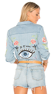 Розовая джинсовая рубашка sloane love you forever - Lauren Moshi
