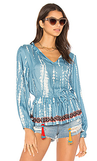 Блуза с промытым принтом - HEMANT AND NANDITA