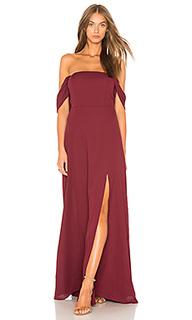 Макси платье с разрезом спереди и открытыми плечами - J.O.A.