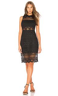 Кружевное платье с ложным воротом - J.O.A.