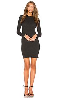 Приталенное вязаное платье в рубчик - Rachel Pally