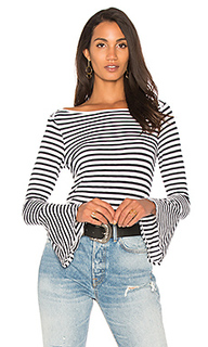 Полосатая футболка с рукавами-колокол - Splendid