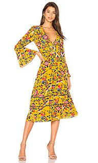 Цветочное платье-кимоно idella - Tanya Taylor