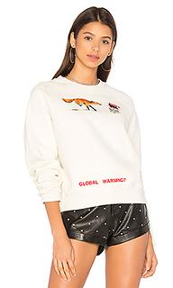 Укороченный свитер fox с круглым вырезом - OFF-WHITE
