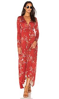 Макси платье в восточном стиле с длинным рукавом - Rachel Pally