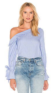 One shoulder tie sleeve top - J.O.A.