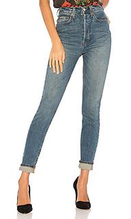 Ультра узкие стрейчевые джинсы высокой посадки originals - RE/DONE