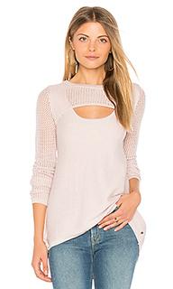 Пуловер с длинными рукавами и вырезом-капля lena - One Grey Day