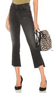 Укороченные джинсы insider со ступенчатым потертым низом - MOTHER