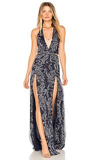 Макси-платье с вырезом - THE JETSET DIARIES