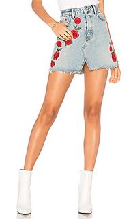 Трапециевидная юбка-карандаш с высокой талией milla - GRLFRND