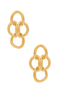 Золотые серьги xavier - Amber Sceats