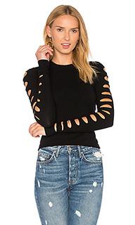 Укороченный свитер с разрезами на рукавах - Autumn Cashmere