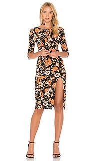 Миди платье с цветочной вышивкой - For Love & Lemons