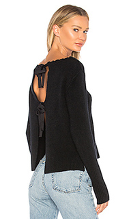 Рваный свитер с круглым вырезом - Autumn Cashmere