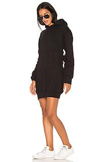 Платье со шнуровкой и капюшоном - MONROW
