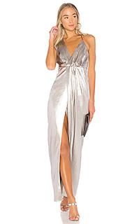 Платье на бретельках с асимметричным декольте - Halston Heritage