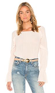 Блуза с оборкой на рукавах - Michael Stars