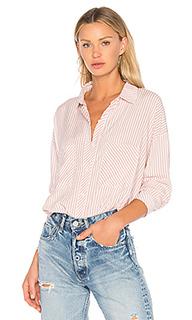Блуза с асимметричным подолом и накладным карманом - 1. STATE