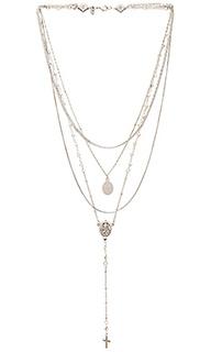 Ярусное ожерелье с камнем - Vanessa Mooney