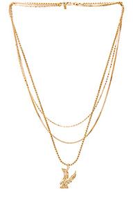 Ярусное ожерелье с подвесом орел lopes - Vanessa Mooney