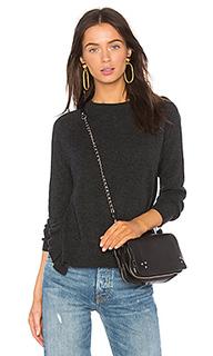 Прямой свитер с круглым вырезом и рюшами по бокам - Autumn Cashmere