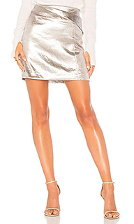 Драпированная мини юбка faux wrap - Halston Heritage