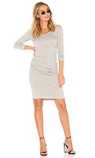 Платье с длинным рукавом shirred - MONROW