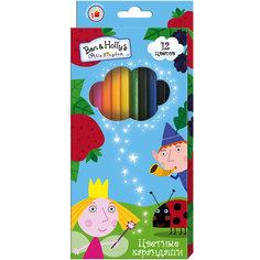 """Цветные карандаши, 12 цветов, """"Бен и Холли"""" Росмэн"""