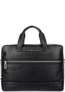 Вместительная черная сумка с отделением для ноутбука Tommy Hilfiger