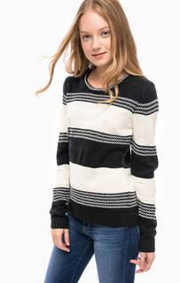 Трикотажный свитер в полоску Blue Seven