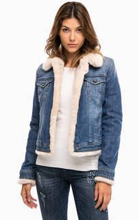 Утепленная джинсовая куртка на кнопках Liu Jo