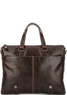 Кожаная сумка с отделением для планшета Gianni Conti