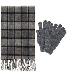 Комплект из шерстяных перчаток и шарфа Barbour