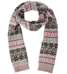 Шерстяной вязаный шарф Barbour