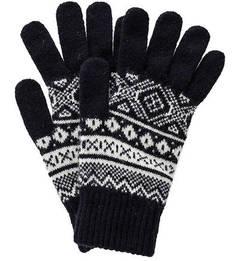 Синие шерстяные перчатки Barbour
