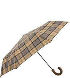 Складной зонт с деревянной ручкой Barbour