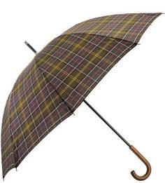 Зонт-трость с деревянной ручкой Barbour