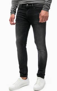 Джинсы скинни с декоративными заломами Calvin Klein Jeans